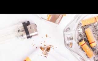 Отказ от курения отеки