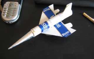 Самолет из пачки сигарет