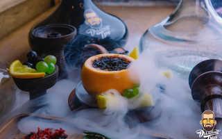 Кальян с фруктами в колбе