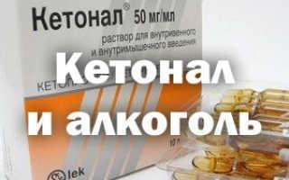 Кетонал и алкоголь последствия