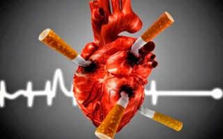 После сигарет болит сердце