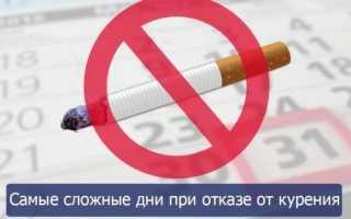 Самые тяжелые дни когда бросаешь курить